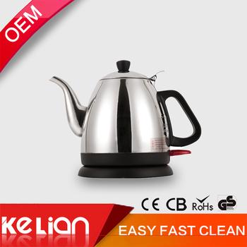 wholesale oem long nose tea electric gooseneck kettle