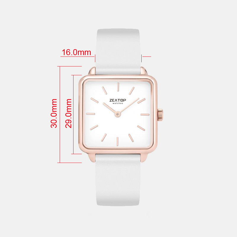 29mm Ladies Square New Design Japan Movt Mesh Watch