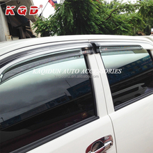 OEM PC Injection Window Visor Car Doors Wind Deflector For Hilux Vigo 2012