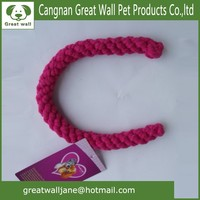 Handmade the letter C cotton rope pet toys for dog training