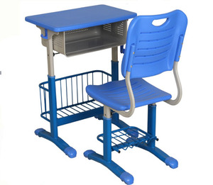 Adjustable single student set wood injection modern student desk chair