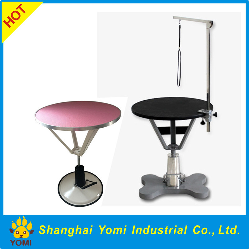 Customized Color Pet Lift Round Hydraulic Dog Grooming Table Product On