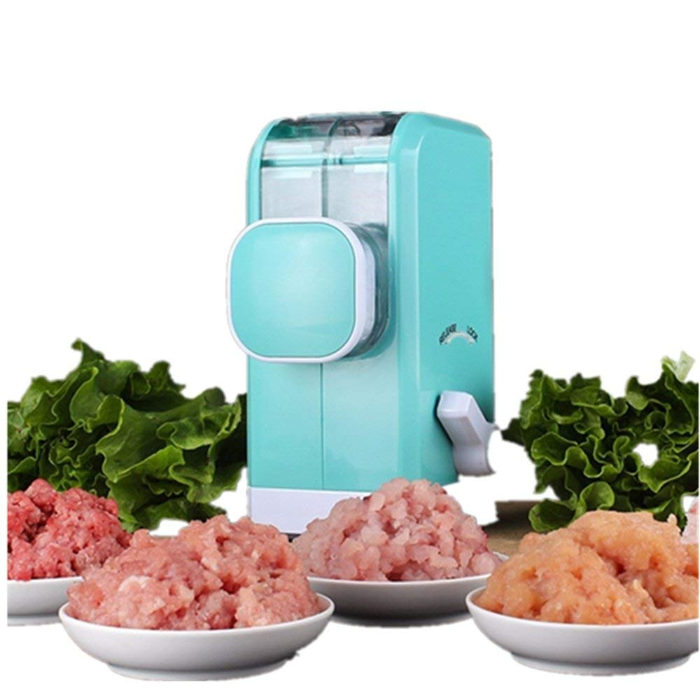 MAXGOODS Multifunction Hand Crank Meat Grinder Blender Powerful Suction Base Manual Meat Chopper Shredder Home Kitchen Cooking Helper, Blue