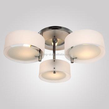 Sleek And Modern Acrylic Chandelier With 3 Lights Flush Mount ...