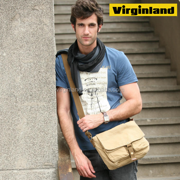 2371 Casual Bag Cotton Canvas Shoulder Messenger For Men