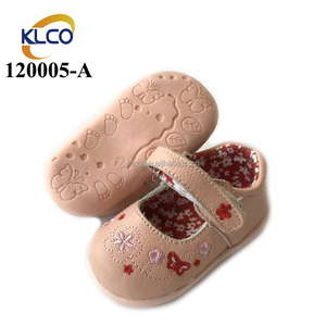Pink party shoes beautiful soft baby leather shoes girls wholesale