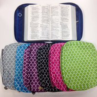 Wholesale Polyester Microfiber Quatrefoil Bible Cover Book Bag Journal Cover with Handle