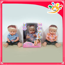 "16"" Induction and jumping doll,kids short hair silicone child doll with smell"