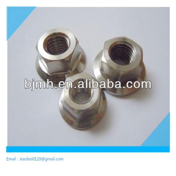 5PC Titanium Lock Nut locking Flange Nut Ti Alloy M5 M6 M8 M10 M14
