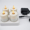 4 pieces luminara moving wick led tea light candle