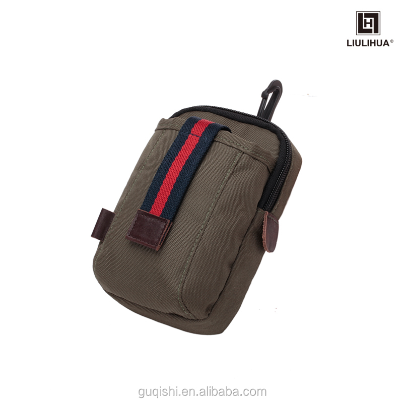 Custom leisure canvas jongens mens taille tas kleine packet Sporttas Gadget Pouch Outdoor Gear Heuptas