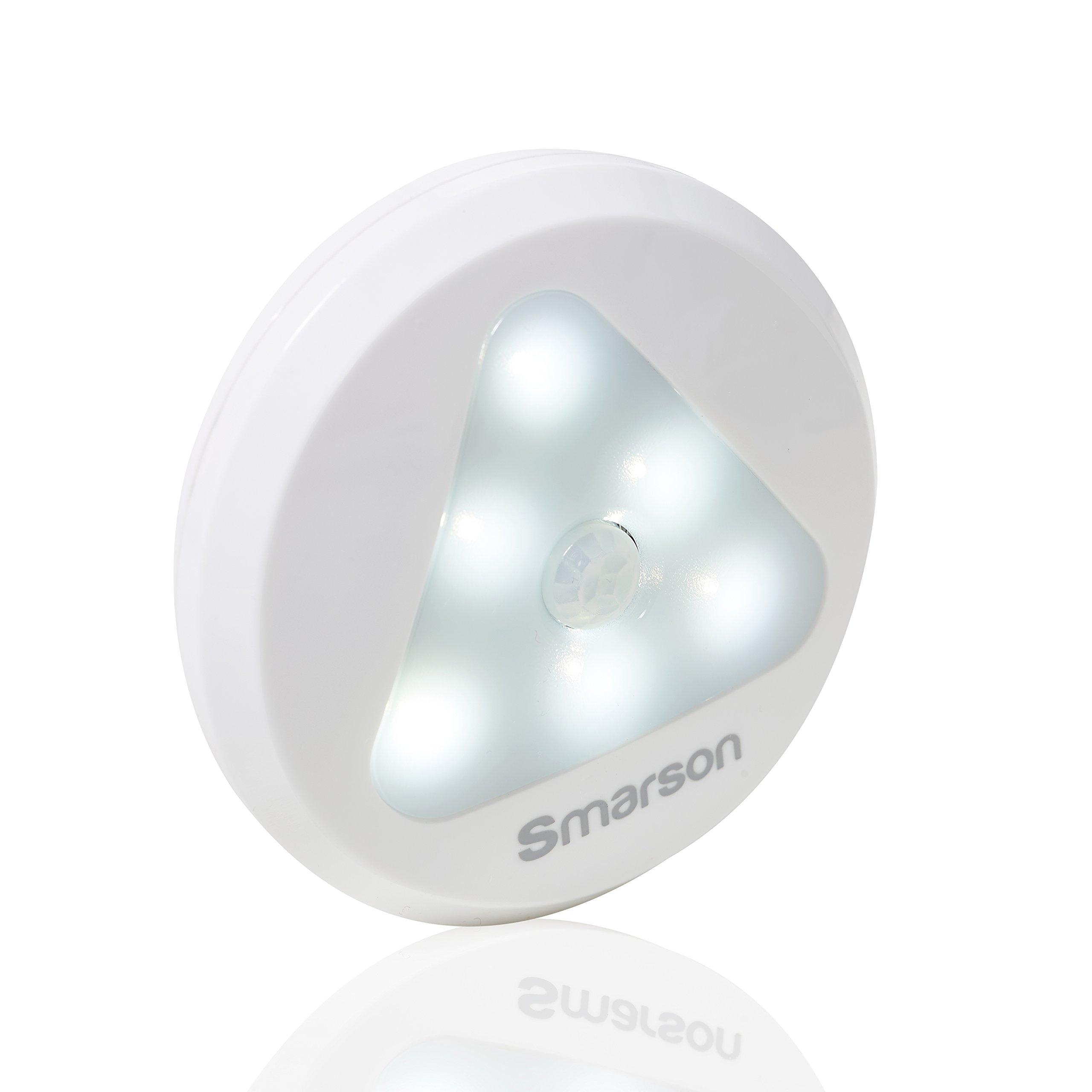 Motion Sensor Energy Saving Wireless 6-LED Night Light With Bright Daylight, 1-Pack, Battery-Powered, Automatic On/Off, Safe For Kids, Stick Anywhere In Bedside, Hallway, Bathroom, Closet, Stairway