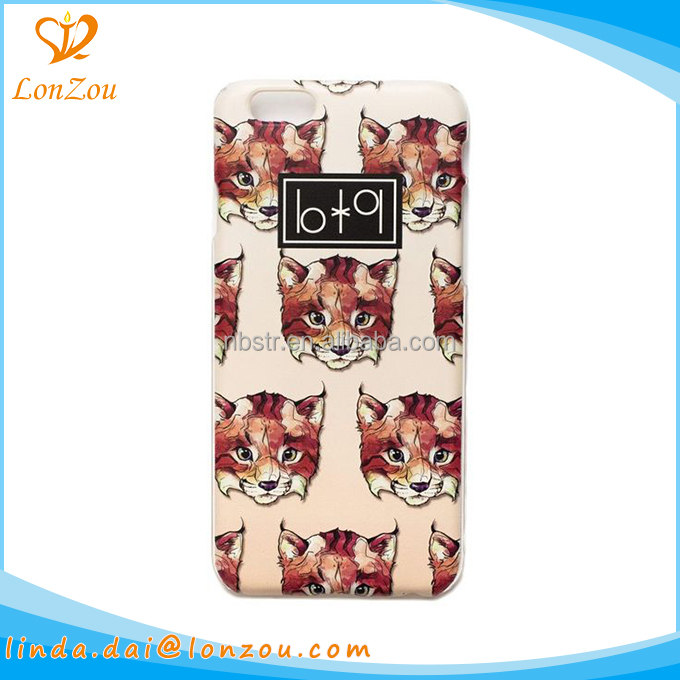 Plastic phone case 2017 leopard animals favorite durable phone accessories mobile case