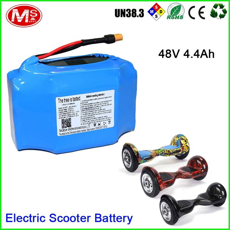 Smart Self Balance Scooter Rechargeable Samsung Lithium Battery Pack 48V 4.4Ah