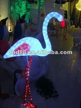 Commercial pubilc decoration 3D FLAMINGO LED christmas sculpture lights