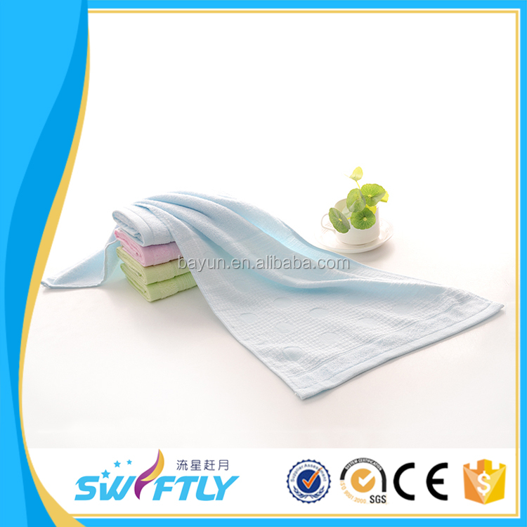 solid color bamboo cotton face towel/hand towel/kitchen towel hot sale
