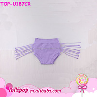 Baby Summer 2017 Kids Lilac Cotton Decorative Tassel Panties Newborn Children Toddle Girls Shorts Diaper Cover Fringe Bloomers