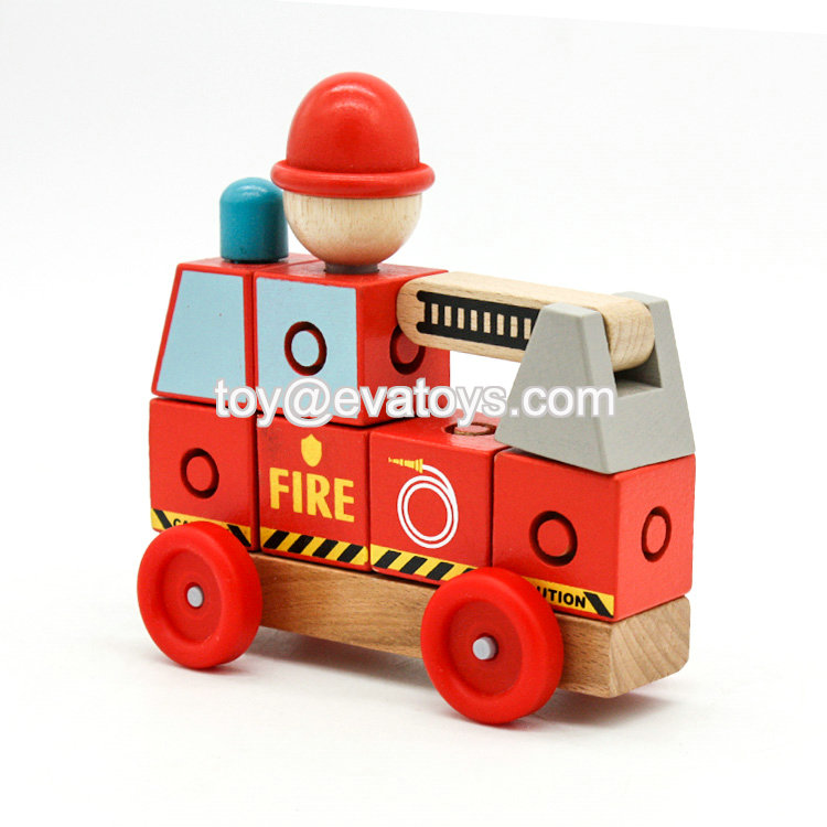 Wooden imagination building block bricks toy W04A348