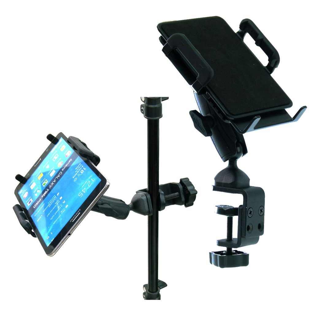 BuyBits Heavy Duty Adjustable C-Clamp Music Stand / Counter Top Mount for Samsung Galaxy Tab Pro (8.4)