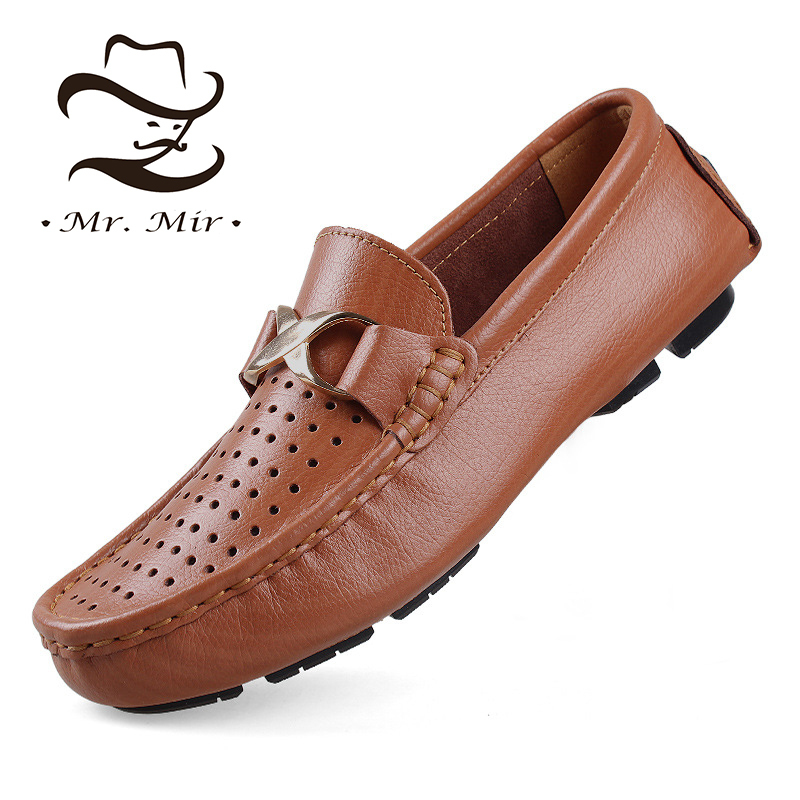 Mr Mir Fashion Leather Men Loafers, Casual Driving Leather Men Moccasins, Brand Genuine Leather Men Flats, Men Shoes