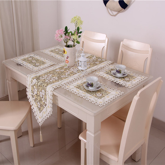 New coming yellow embroidered table runner and placemat exquisite table set & Buy Cheap China table runner placemats set Products Find China ...