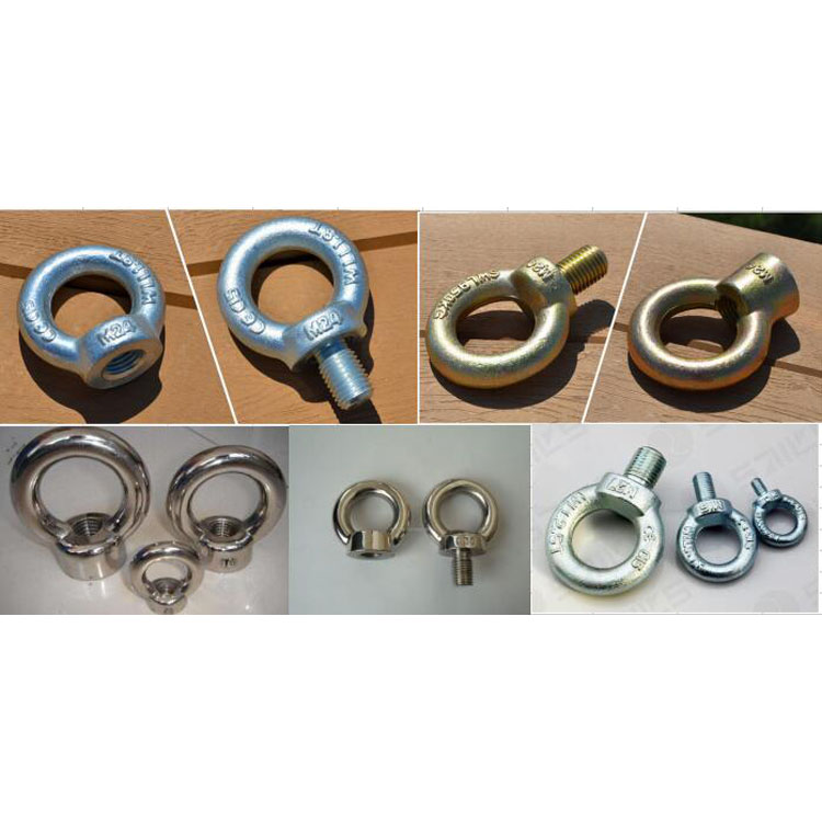 Heavy Duty Steel Drop Forged Anchor Concrete Din580 Lifting Eye bolt and DIN582 Eye nut