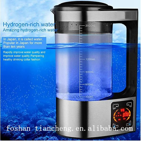 القلوية المؤين مولد مياه الهيدروجين الغنية تحقيق المضادة للتجاعيد إبريق غلاية ضعيفة صانع المياه القلوية