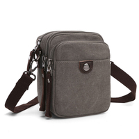 YS-C029 Amazon popular vintage travel canvas small cross body bags sling mini shoulder bag for men