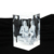 Hot sale religious crystal gifts buddhism photo 3D laser engraved crystal cube from factory