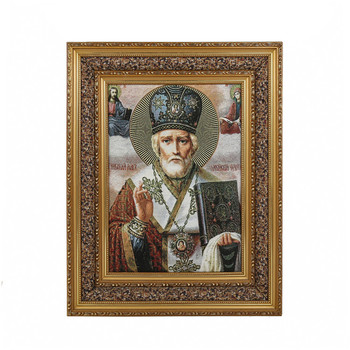High Quality Traditional Decorative Jesus Christians Religion Portrait Canvas Oil Paintings with Exquisite Carved Frame