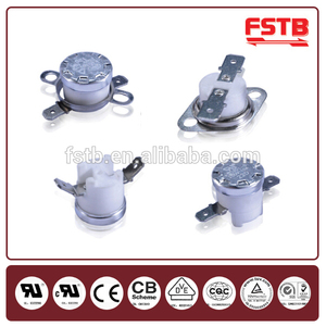 Customized KSD301 fan heater bimetal thermostat thermal switch