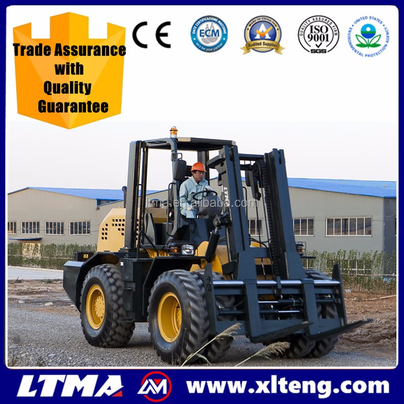 Made in China top quality 15 ton ATV diesel forklift truck rough terrain forklift