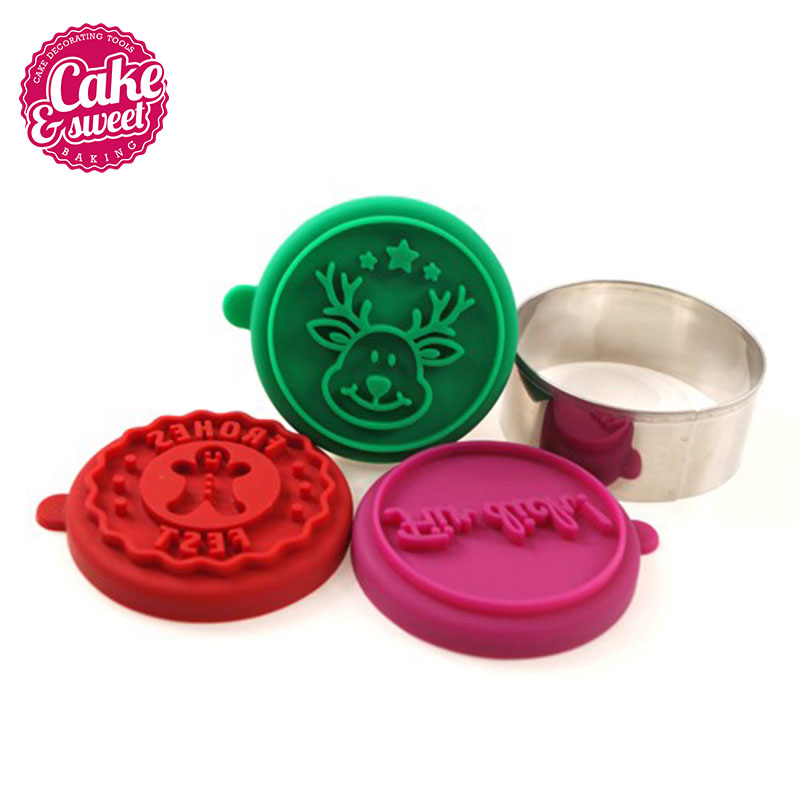 3D custom Silicone Cookie Stamp cookie cutter cookie press