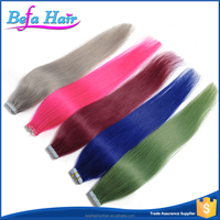 Befa Hair 2016 Newly Colorful Hair Extension For Skin Weft Seamless Hair Extensions