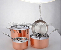 High Quality Triply Cookware pans Copper set