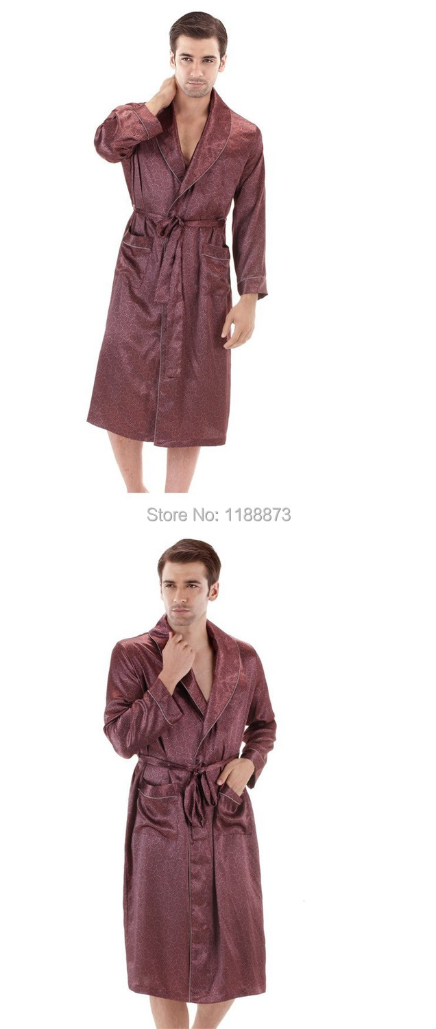 2019 2015 New Male Spring Autumn Dressing Gown Mens Paisley Bath ... 54741c8b0