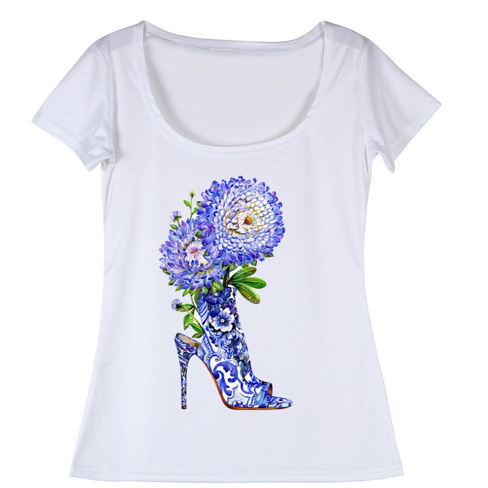Euro Size T Shirt Cute Design Women Tshirts Fitness Ladies
