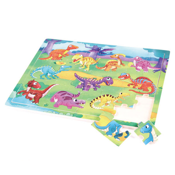 Topbright wooden dinosaur puzzle pieces for children with EN71