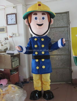 fireman mascot costume for adult party fireman costume