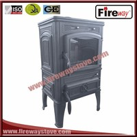 High Efficiency 120mm pipe diameter cast iron wood burning stove