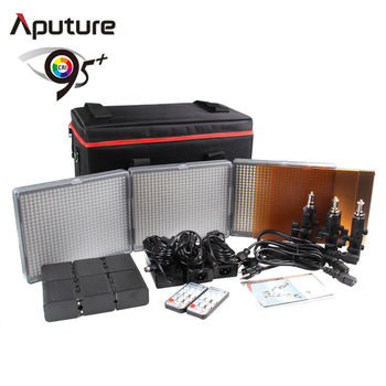 Aputure CRI95 rechargeable wireless remote control studio lighting kit