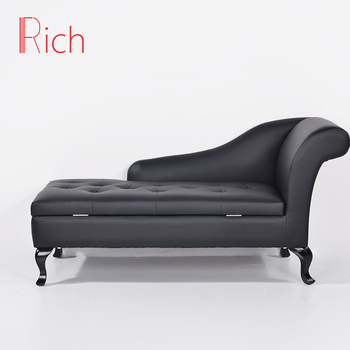 Modern Upholstery Leather Sofa Chaise