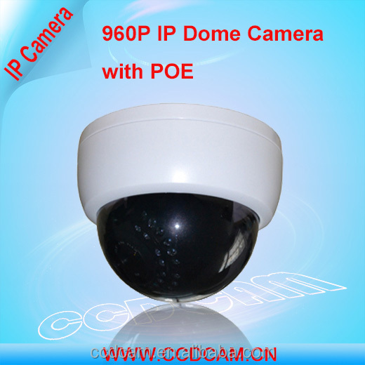 960P Real Time IR Plastic dome IP camera with POE for cctv surveillance system/digital camera /web camera
