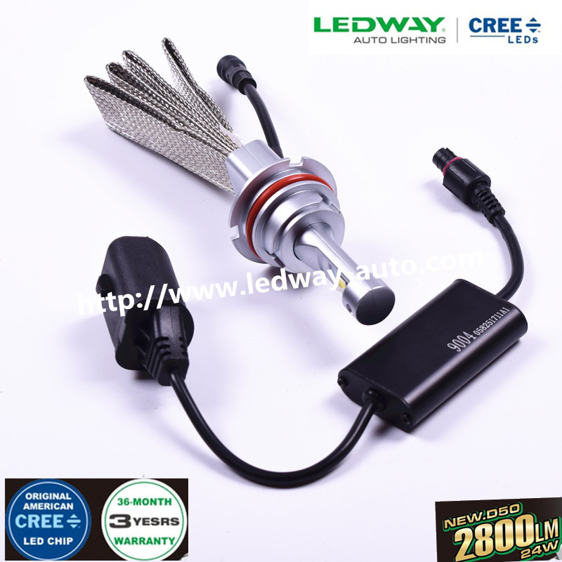 Best Price and Smart System High Power Fanless automobile Accessories LED car light 9004 / HB1