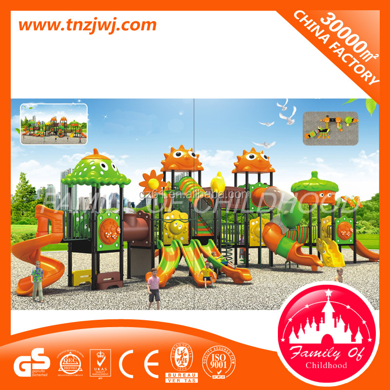 Fashionable physical training outdoor playground slide for kids