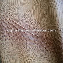 2012 PVC crocodile leather for chair