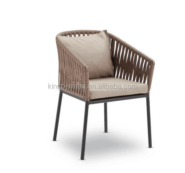 Modern Leisure Rope Garden Chair Cafe Chair Used Outdoor Garden Furniture