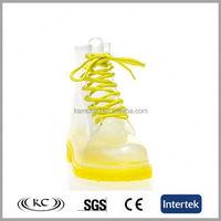 cheap fashion yellow cut low rain boots women size 11