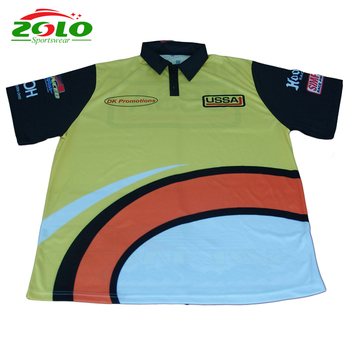 aae2f753 3 Button Pit Polo Custom New Design Sublimation Racing Polo Shirts ...