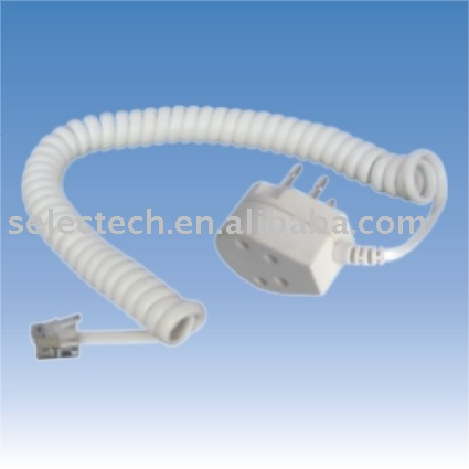 Modular cord for Dutch jack/plug to American modular plug with Modular coil cord Dutch telephone adapter SE-HL-12